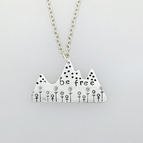 Be Free Mountain Necklace