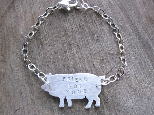 Friend not Food Pig Bracelet