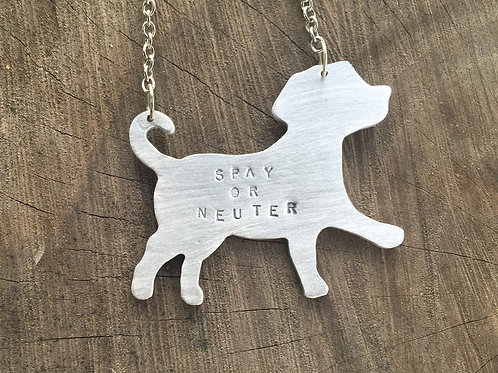 Spay or Neuter Dog Necklace