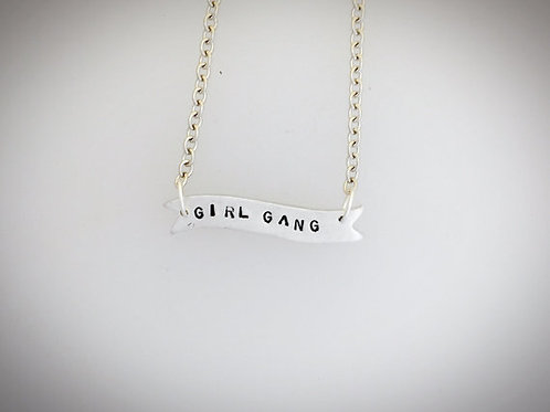 Girl Gang Banner Necklace