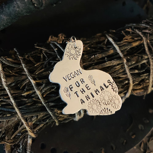 Vegan for the Animals Rabbit Necklace