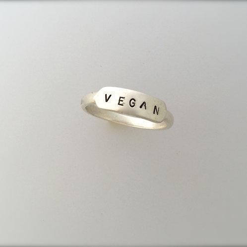 Vegan Signet Ring