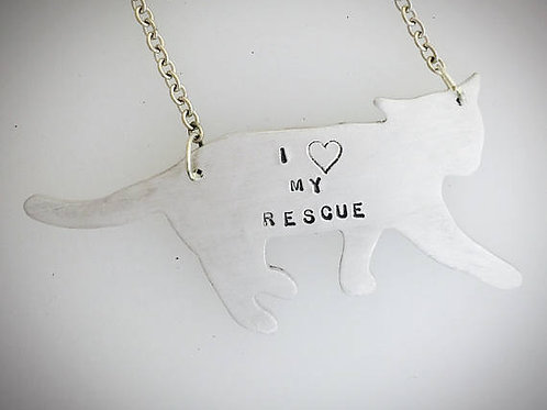 I Heart my Rescue Cat Necklace