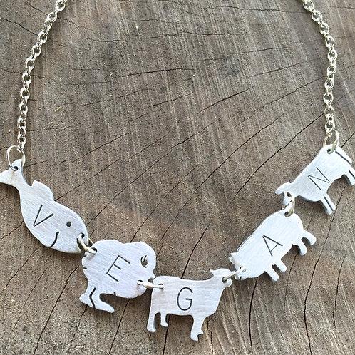 Vegan Farm Animal Necklace