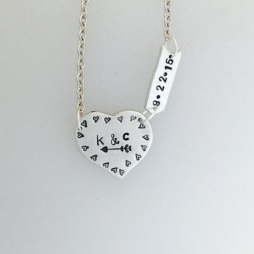 Heart & Arrow Anniversary Necklace