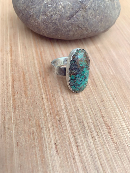 Chrysocolla Tree Hugger Ring