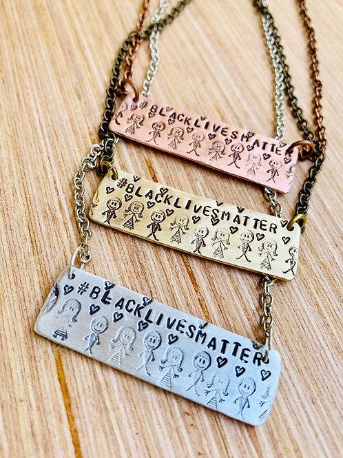 #blacklivesmatter Rectangle Necklace
