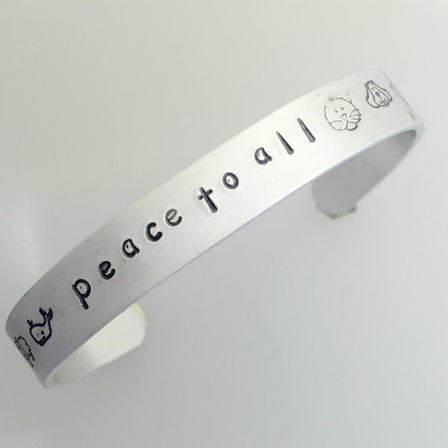 Peace to All Cuff Bracelet