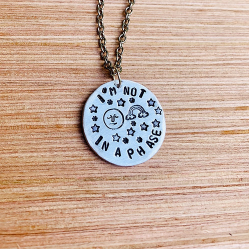 I'm Not in a(moon)Phase Pride Necklace