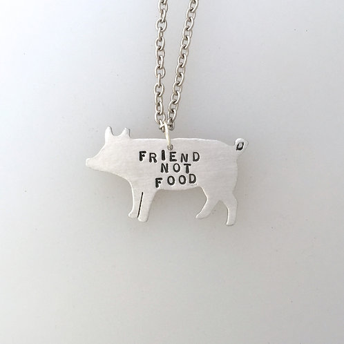 New-Friend Not Food Pig Necklace