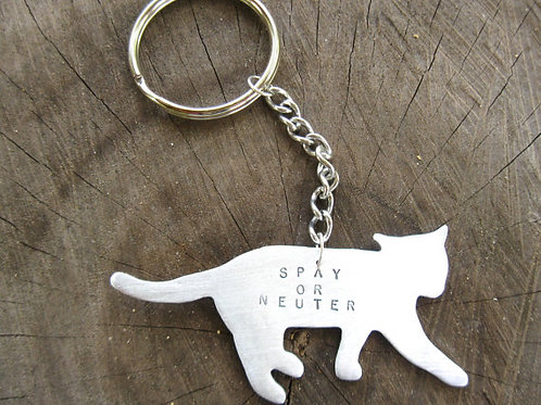 Spay or Neuter Cat Keychain