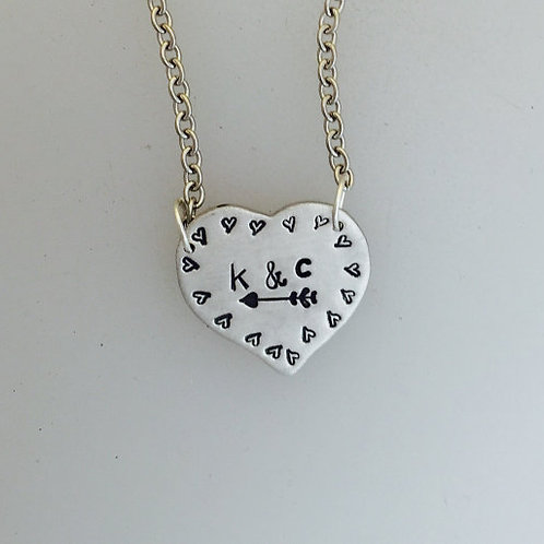 Heart w/Initials Necklace