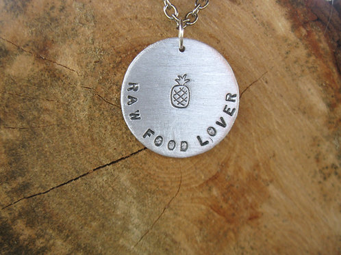 Pineapple Raw Food Lover Necklace