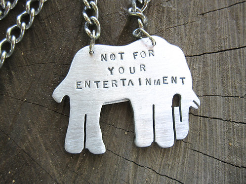 Men's Not for your Entertainment Elephant Necklace