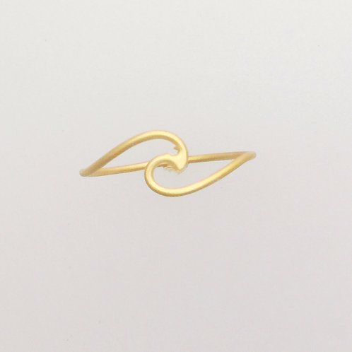 Wave Ring 24Kt Gold Plated Sterling Ring