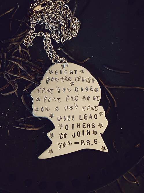 Ruth Bader Ginsburg Quote Necklace