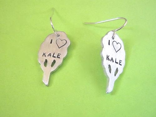 I Love Kale Earrings
