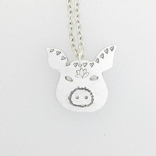 Good Karma Pig Necklace
