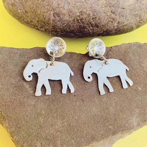 Elephant Sun Earrings