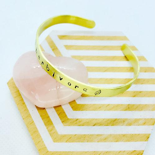 Brass Herbivore Cuff Bracelet