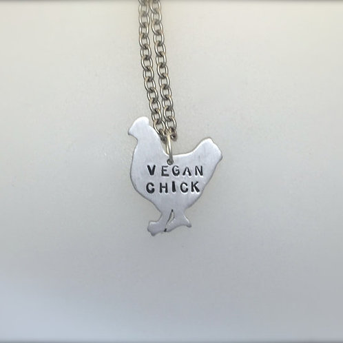 Mini Vegan Chick Chicken Necklace