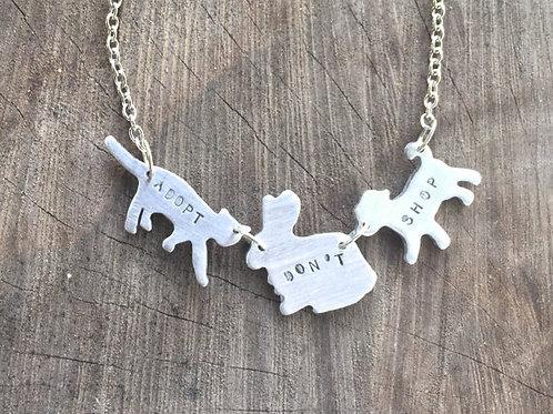 Adopt Don't Shop Cat,Rabbit,Dog Necklace