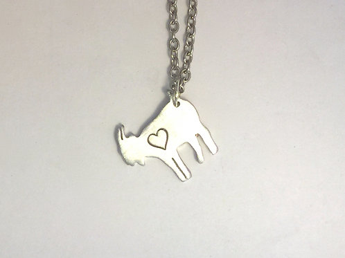 Mini Goat with Heart Necklace