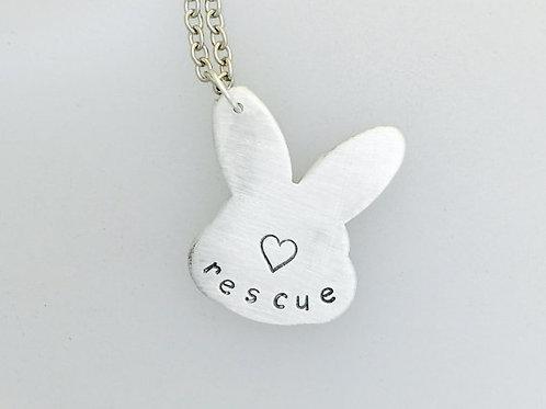Rescue Rabbit Head Necklace