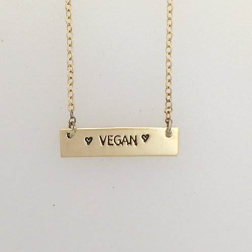 Vegan Yellow Gold-Filled Necklace