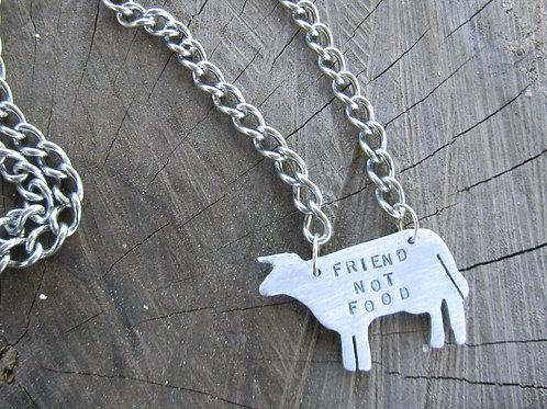 Men's Friend Not Food Cow Necklace