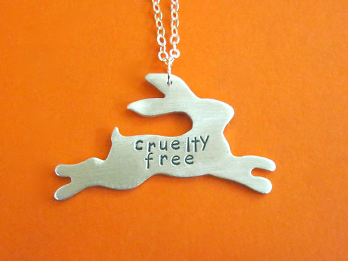 Cruelty Free Leaping Bunny Necklace