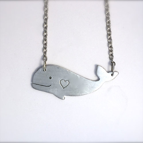 Happy Heart Whale Necklace