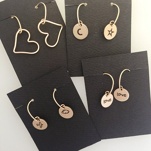 Mismatched Rose Gold-Filled Earrings-Your Choice!