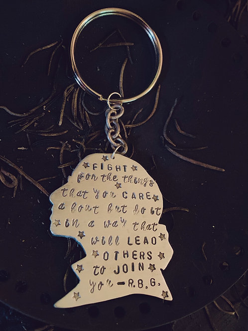 Ruth Bader Ginsburg Quote Keychain