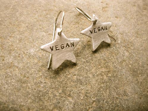 Vegan Star Dangly Earrings