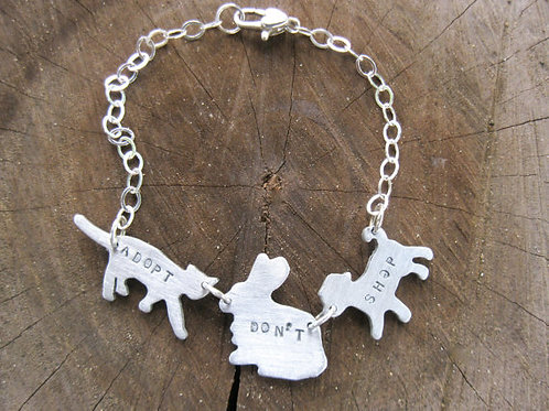 Adopt Don't Shop Cat, Dog, Rabbit Bracelet