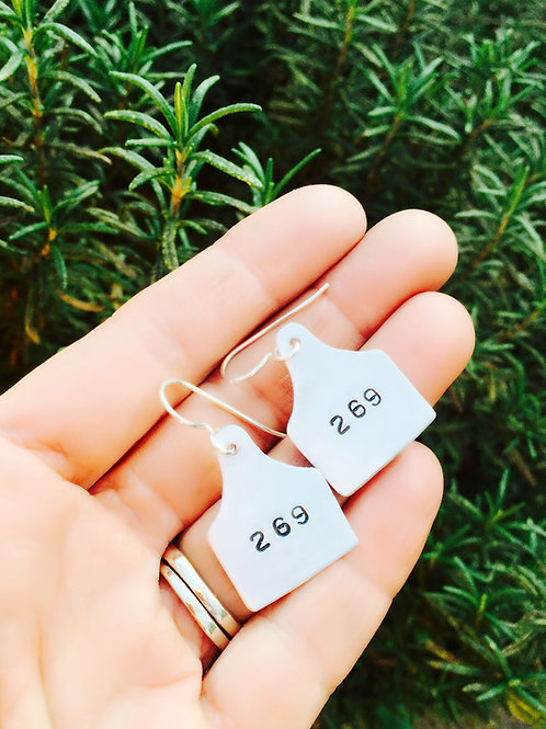 269 Ear Tag Earrings