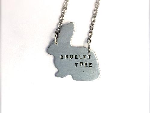 Cruelty Free Sitting Rabbit Necklace