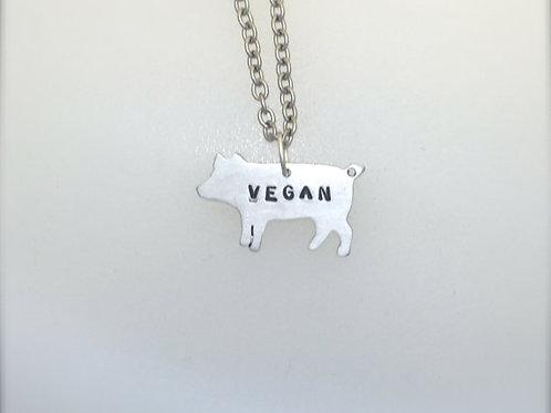 New-Mini Vegan Pig Necklace