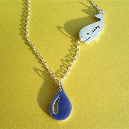 Save Water Whale Necklace