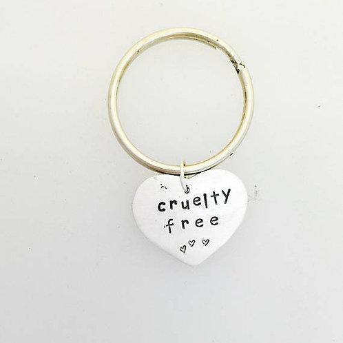 Cruelty Free Rabbit Heart Keychain