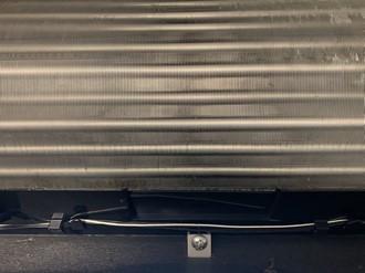 クリーニング後の熱交換器