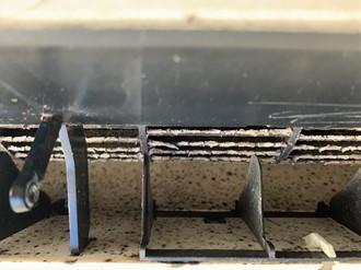 エアコン送付口の汚れ