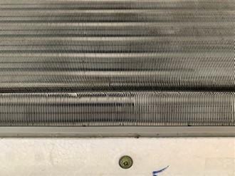 エアコン洗浄後の熱交換器
