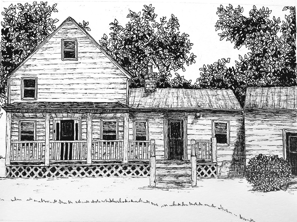 "House Illustration 5""x7"""