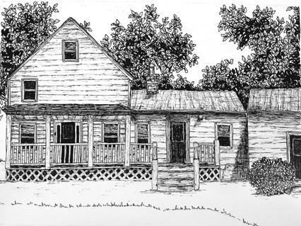 "House Illustration 5""x7"""