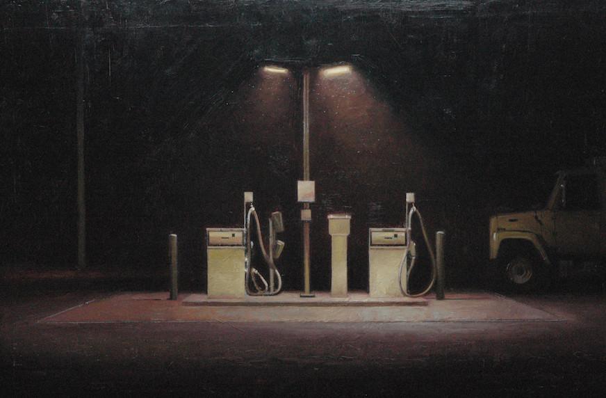 No Smoking. Municipal gas pumps Monico WI.