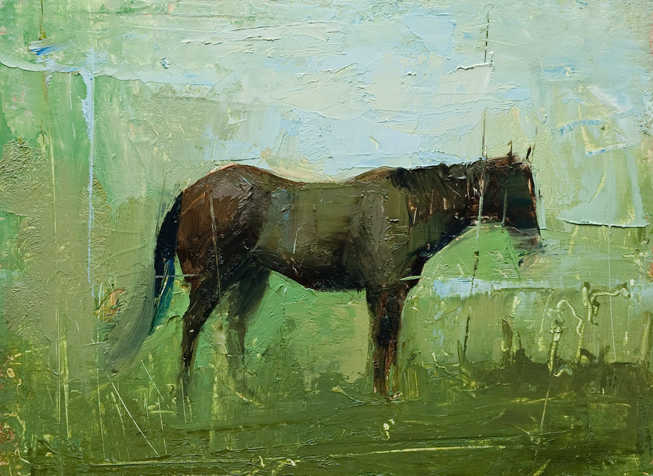 Horse and pasture.