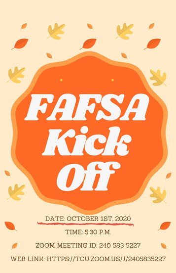 SAVE THE DATE! FAFSA Kick Off begins Thursday, October 1st!