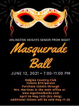 Seniors! Here are your prom details!